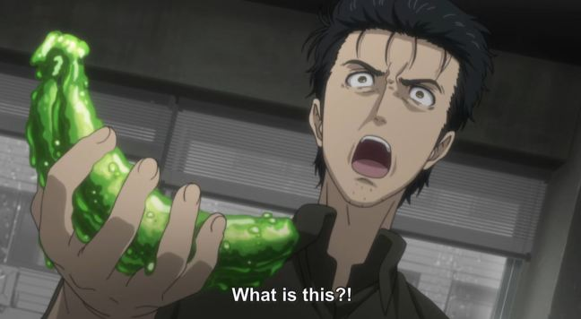 Steins Gate Episode 16 - Okabe and Banana
