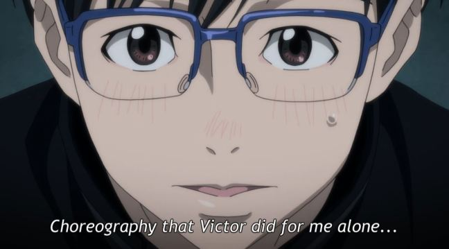 Yuri on Ice Episode 3 - Yuri watches Victor
