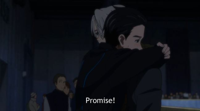 Yuri on Ice Episode 3 - Yuri and Victor Hug