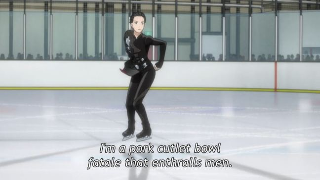 Yuri on Ice Episode 5 - Yuri skating Eros