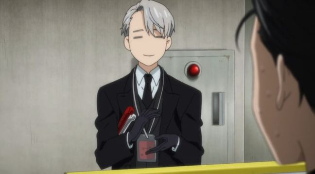 Yuri on Ice Episode 5 Victor applauds?