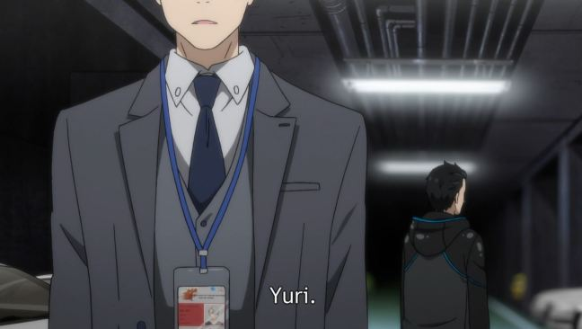 Yuri on Ice Episode 7 - Victor and Yuri in the carpark