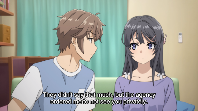 Bunny Girl Senpai Episode 8 Sakuta and mai