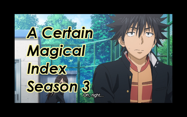 A Certain Magical Index Season 3 Episode Review Title Image