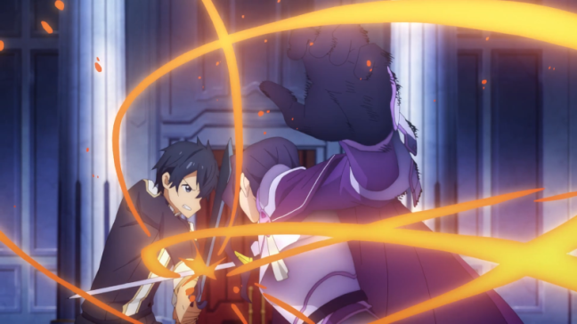 Sword Art online Alicization Episode 15 Kirito Fighting