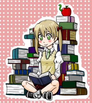 Maka Albarn - Soul Eater - Reading books